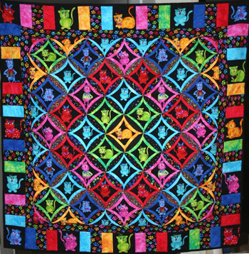 Cool Cat Quilt by Lori Lusk W
