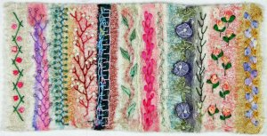 Felted Sampler with Embroidery W